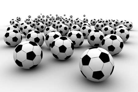 fanatic: It is a lot of balls Stock Photo