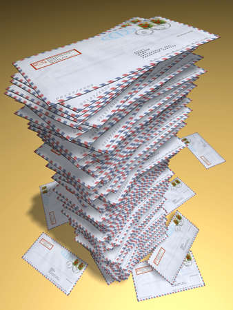 spam mail: Heap of letters Stock Photo