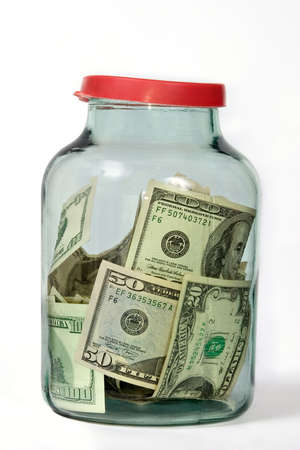 reliably: Money in the glass jar
