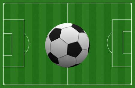 soccer pitch: A soccer pitch
