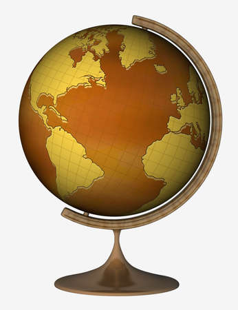 Globe (America and Africa) on the white background Stock Photo - 730104