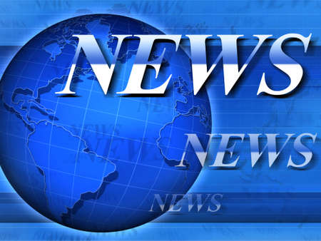 newscast: World news. Conceptual  3d rendered image.