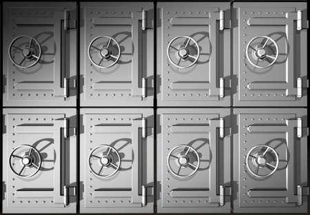 Rendered steel safes