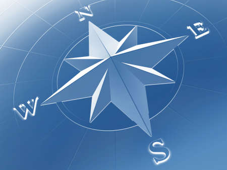 Rendered image of compass rose photo