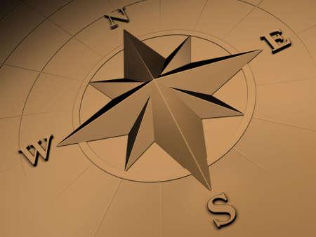 kompassrose: Rendered Image der Compass Rose  Lizenzfreie Bilder