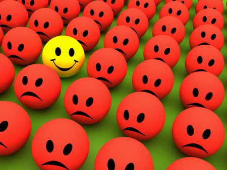 Smilie icone colorate che rappresentano differenti espressioni e le emozioni