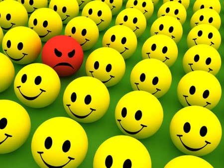 Smilie icone colorate che rappresentano diverse emozioni e le espressioni  Archivio Fotografico