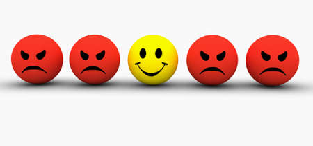 Smilie icone colorate che rappresentano diverse emozioni ed espressioni