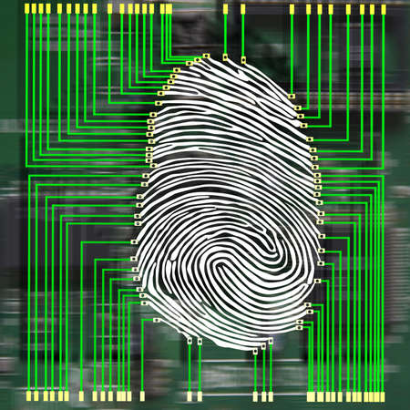 Scanning of a fingerprint with  new technologies photo