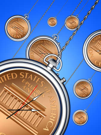 The relationship between time and money.Conceptual image. photo