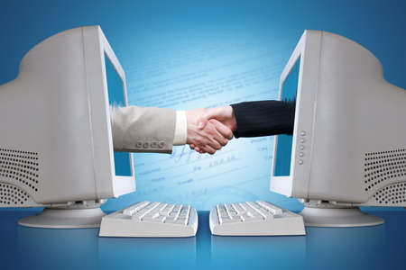 The conclusion of the contract through the Internet Stock Photo - 855251