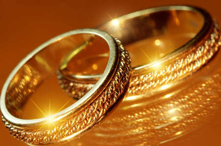 vow: Close up of wedding rings