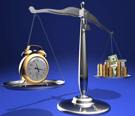 The relationship between time and money. Conceptual image. Stock Photo - 1726706