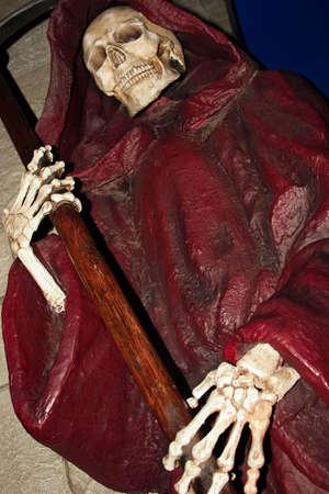 scythe: Grim Reaper con guada�a  Foto de archivo