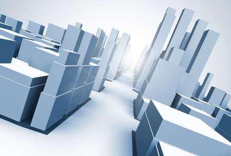 Abstract 3d model of  megacity Stock Photo - 2412847