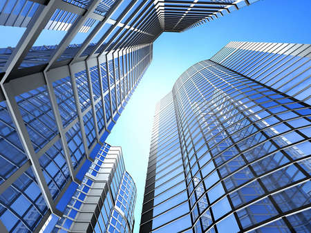 Office building on a background of the blue sky Stock Photo - 2412858