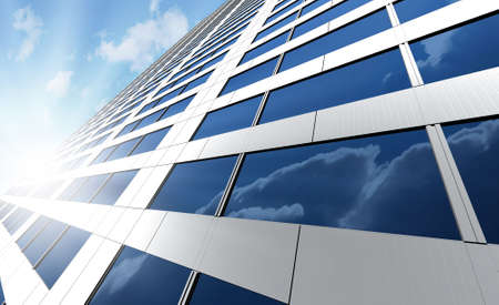 Office building on a background of the blue sky Stock Photo - 2412853