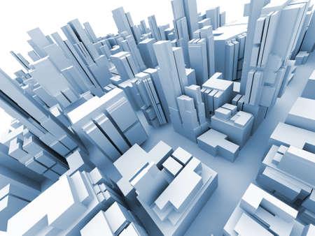 Abstract 3d model of  megacity Stock Photo - 2412854