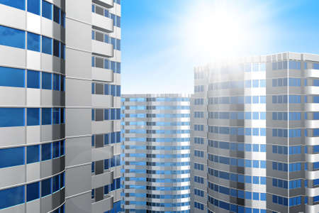 Office building on a background of the blue sky Stock Photo - 2521493