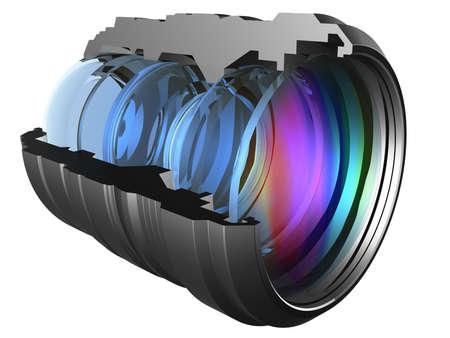 Il sistema ottico di una macchina fotografica lente