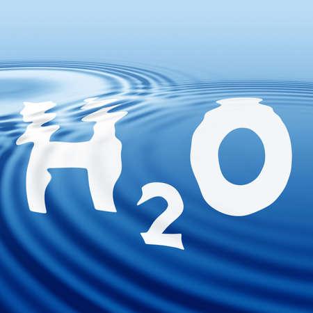 La formula di acqua su una superficie ondulata Archivio Fotografico