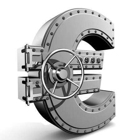 Bank safe from euro sign Stock Photo - 2940917