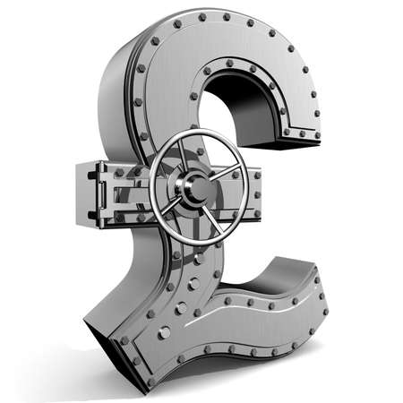 Bank safe from UK pound symbol