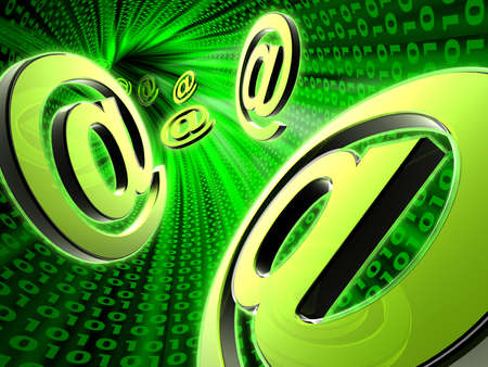 E-mail symbol on abstract background Stock Photo