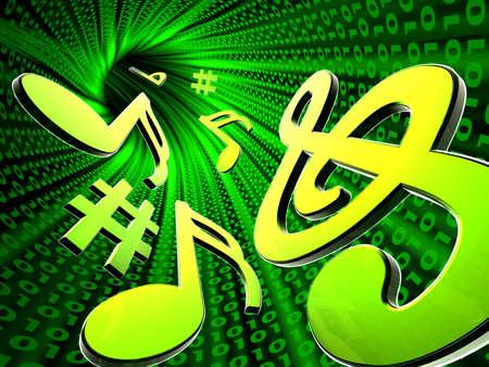 Note musicali digitali in astratto galleria
