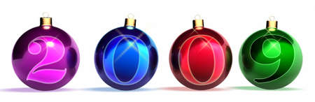 chronology: Christmas balls. Year of 2009