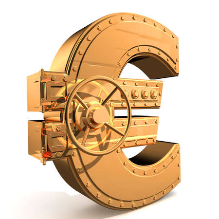 Bank safe from euro sign Stock Photo - 4037553