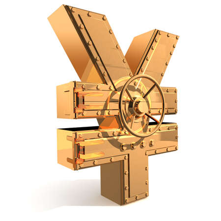Synthesis from  yen symbol and  banking safe Stock Photo - 4037543