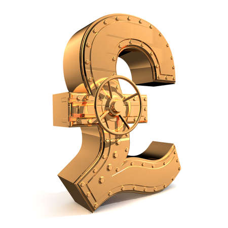 Bank safe from UK pound symbol Stock Photo - 4037541