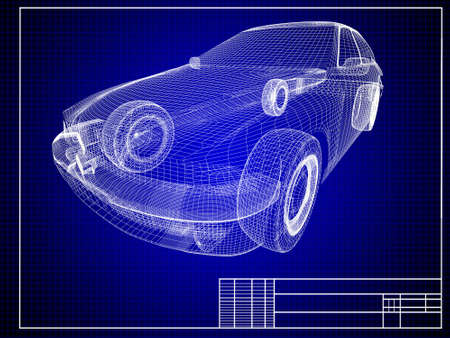 creation: Close-up of auto blueprint