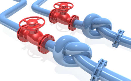 combustible: 3D rendered knot from pipeline Stock Photo