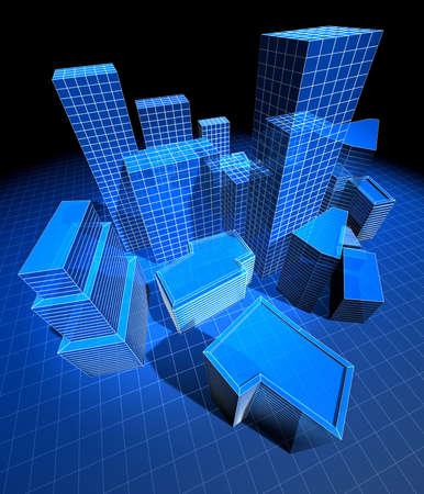 3D model of the city