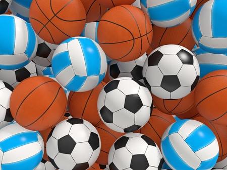 Balls background.  3D rendered illustration.