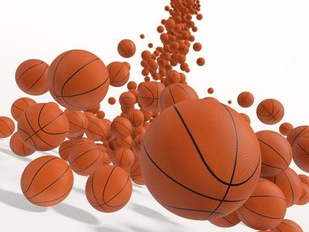 立ち下がりボール。3 D レンダリングの図。 写真素材