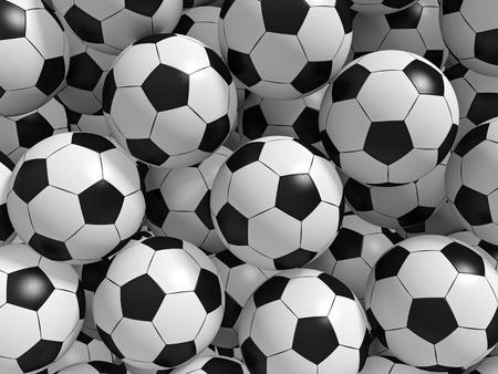 Sport ballen achtergrond. 3d teruggegeven illustratie.