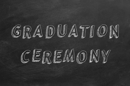 Hand drawing text GRADUATION CEREMONY