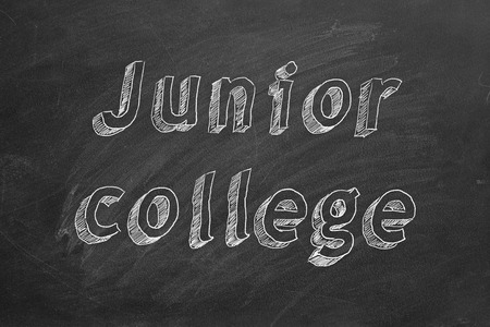 Junior college. Hand drawing text.