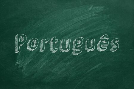 Portuguese learning concept