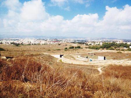 archaeological: Paphos archaeological park Stock Photo