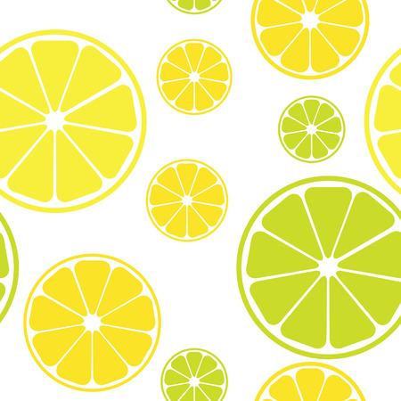 seamless pattern with lemons white