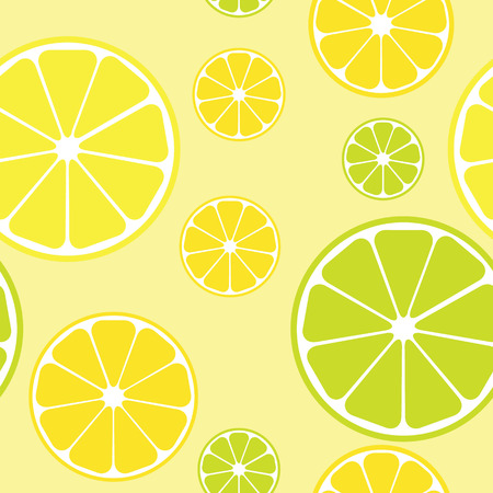 orange slice: seamless pattern with lemons yellow