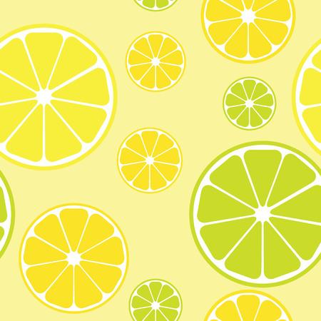 seamless pattern with lemons yellow