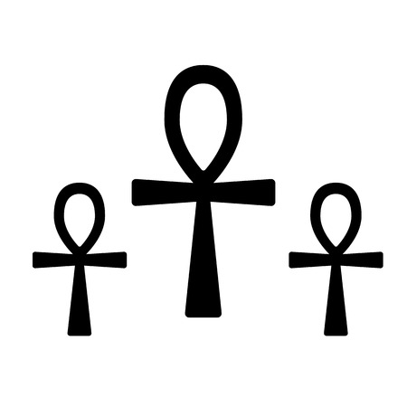 Set of ancient egypt symbol Ankh (Key of Life, Eternal Life, Egyptian Cross)