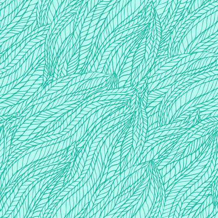 groviglio: Abstract seamless ondulato floreale groviglio di fondo del modello a mano. Sfondo blu Teal. Vettoriali