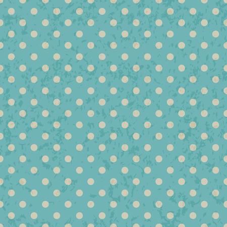 textura papel: Patr�n de puntos en el grunge textura de papel viejo, polka dot fondo sin fisuras. Vectores