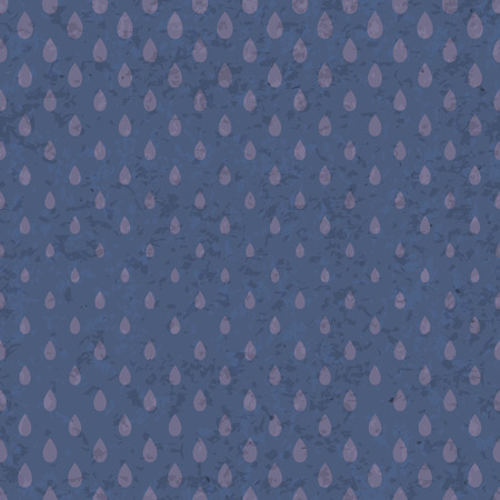 old grunge paper: Seamless raindrops pattern on old grunge paper texture Illustration